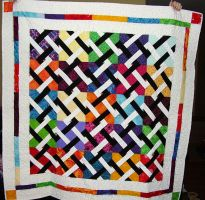 Colorful Chainmail Pattern Quilt by StarValkyrie