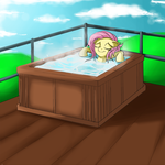 Fluttershy chills out by Nac0n