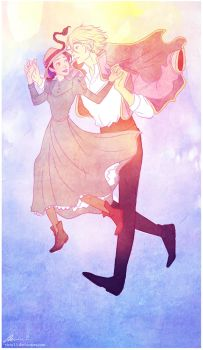 Howl and Sophie by viria13
