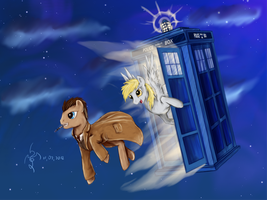 doctor Whooves time to adventure by Dalagar