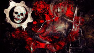 Gears of War 3 wall art 5 by Bartistictouch
