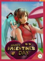 Happy Valentines Day Miku and Meiko by Didi-Esmeralda