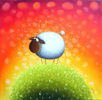 Sheep Full Of Butterfly Dreams by Gabriele-Art