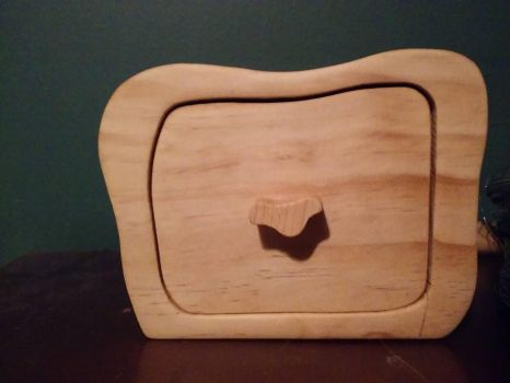 First attempt at a Bandsaw box Front View by Des804