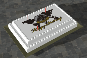 MGSV The Phantom Pain Birthday Cake  for XPS by SOLIDCAL