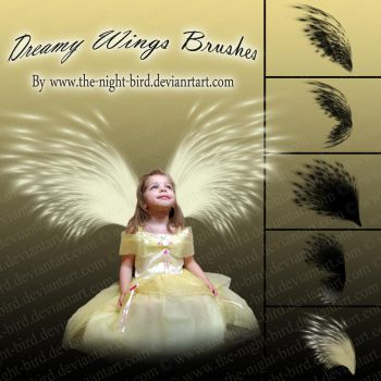 Dreamy Wings Brushes by the-night-bird