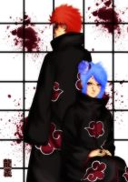 Pain and Konan by nejean