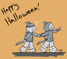Meowloween by fivefootoh