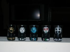 Hollywood Undead Shot Glasses by misspadfoot9