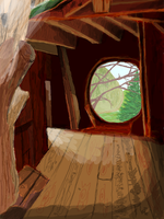 hobbit house by thatcoldmask