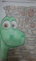 The Good Dinosaur: Arlo Colored by Me by NinjaTurtleFangirl