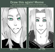 Before and after meme - Sephiroth by SpookyNonsense