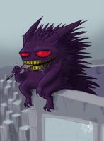 Gengar by Edwardcrow