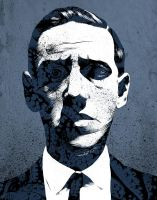Portrait of H.P. Lovecraft by chriskoehler