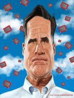 Mitt Romney by markdraws