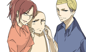 Erwin, Hanji and base by Basemakerofdarkness