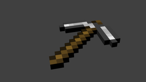 Minecraft Pickaxe by Luyomi333