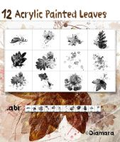 Acrylic Painted Leaves by Diamara