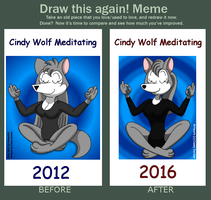 DTA! Meme - Cindy Wolf Meditating by CaseyDecker