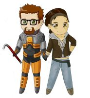 chibi half-life by tiigroid