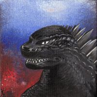 Monster portrait: Godzilla by Zwerg-im-Bikini