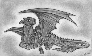 How To Train Your Dragon (Toothless - Hiccup) by Bill-Con