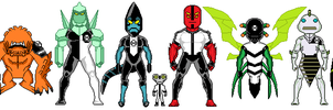 Ben 10 Micro Heroes - First Set of Aliens by MilekHippy