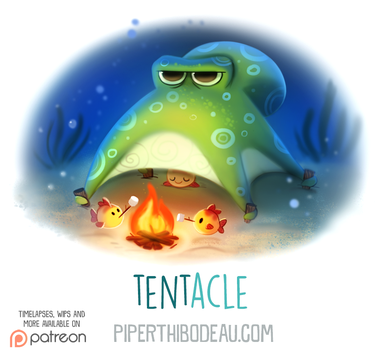 Daily Paint 1611. Tent-acle by Cryptid-Creations