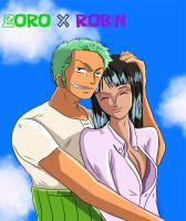 zoro and robin op by bellesisi