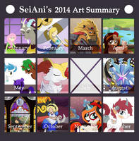 2014 Art Summary by SeiAni