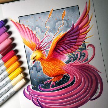 Phoenix Drawing by LethalChris