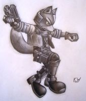 Fox McCloud Pencil Drawing 4 by Spectrum-VII
