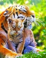 Mother and Cub Fractal by artofpain