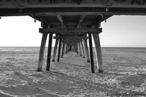 Largs Bay Jetty Underbelly BnW by Kargroth