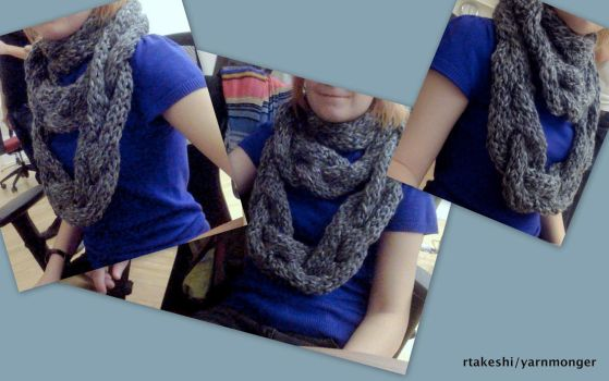 Cabled Super Bulky Scarf by RTakeshi