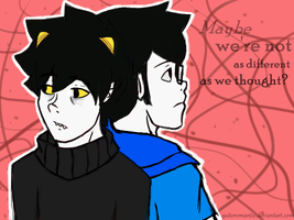 Karkat and John by QuiteRomantic