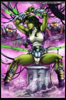She Hulk Colors by MARCIOABREU7