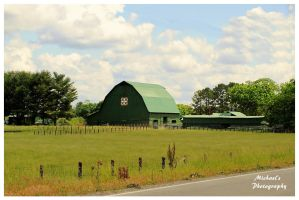 A Green Quilt Trail Barn by TheMan268