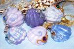 Polymer Clay Seashell Pendants by plasterfish