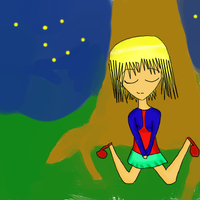 Girl Sleeping In Forest by Annie-epicjactations