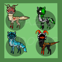 Masked Adoptables CLOSED by SpazmAdopts