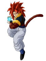 Majin SSJ4 Gogeta Energie Ball by DBZArtist94