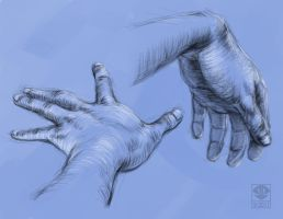 Hand Sketches 2 by TheDude-In-NavyBlue