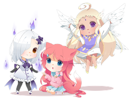 Chibis for Missu by Neko-Rina