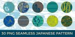 30 PNG Seamless Japanese Patterns: Pack 2 by o-yome
