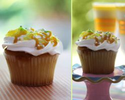 Lemon Cupcake and Lemon Jello by theresahelmer