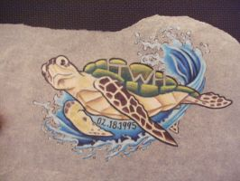 Turtle Catches A Wave by Shipht