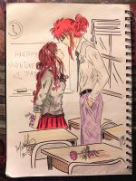 Valentines Day in Class A-1 by KiamaSamoyi