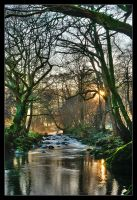 Sunset on the River Derwent 2 by MattAnth