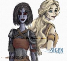 Loki's Wives: Angrboda and Sigyn by MademoiselleMeg